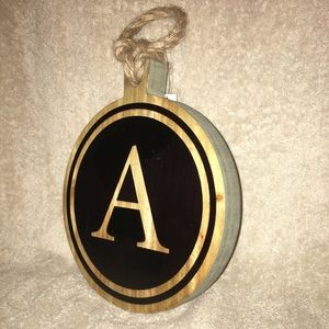 Wall hanging wooden Plaque  Letter A